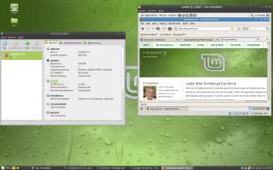 Skärmbild med CentOs i VirtualBox på Mint-burk